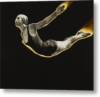 The Sawn Dive Circa 1939 Metal Print by Aged Pixel