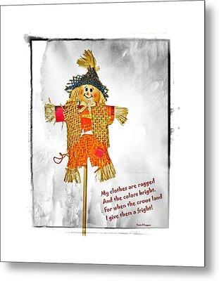 The Scarecrow Metal Print by Susan Leggett