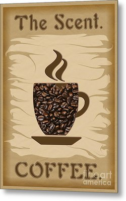 The Scent - Coffee Metal Print