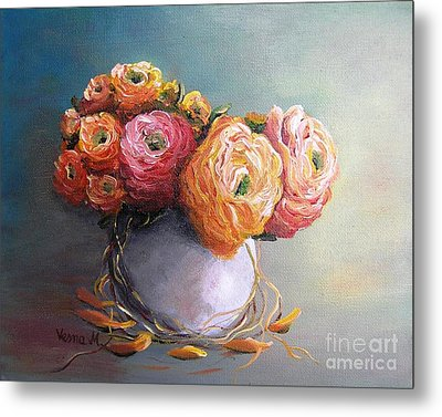 Metal Print featuring the painting The Scent Of Flowers by Vesna Martinjak