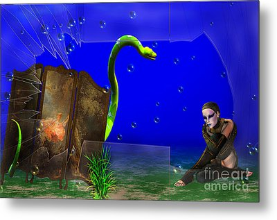 Metal Print featuring the digital art The Scent Of The Girl  by Liane Wright