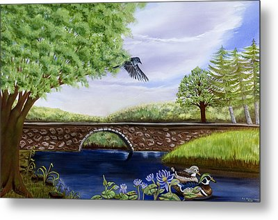 The Schuykill River Metal Print
