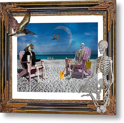 The Scientist's Vacation Metal Print by Betsy Knapp