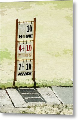 The Score Board Metal Print by Steve Taylor