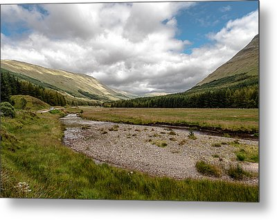 Metal Print featuring the photograph The Scotish Landscape by Sergey Simanovsky