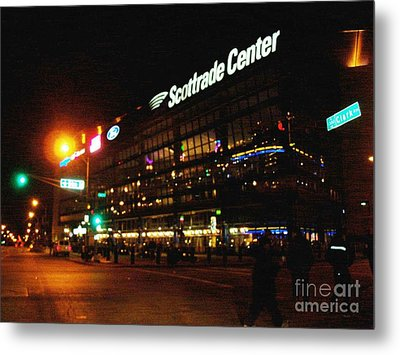 The Scott Trade Center Metal Print by Kelly Awad