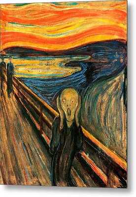 The Scream Edvard Munch 1893                    Metal Print