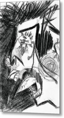 The Scream - Picasso Study Metal Print by Michelle Calkins