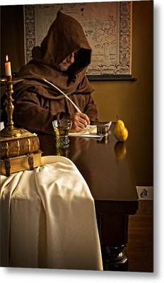 The Scribe Metal Print