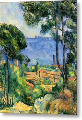 The Sea At The Estaque Metal Print by Paul Cezanne