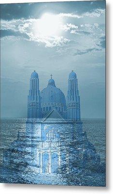 The Sea Church Metal Print by Angel Jesus De la Fuente