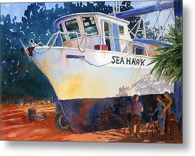 The Sea Hawk In Drydock Metal Print