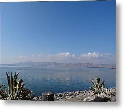 The Sea Of Galilee At Capernaum Metal Print by Karen Jane Jones