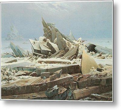 The Sea Of Ice Metal Print by Caspar David Friedrich