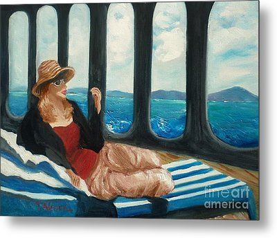The Sea Princess - Original Sold Metal Print by Therese Alcorn