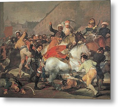 The Second Of May, 1808  The Riot Against The Mameluke Mercenaries Metal Print