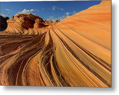 The Second Wave In The Vermillion Metal Print by Chuck Haney