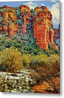 Metal Print featuring the photograph The Secret Mountain Wilderness In Sedona Back Country by Bob and Nadine Johnston
