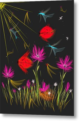 The Secrets Of The Night Metal Print by Angela A Stanton