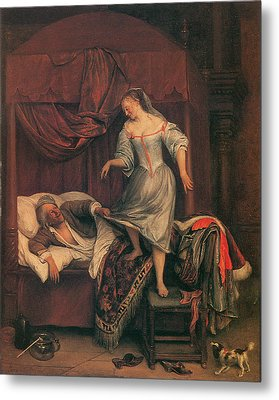 The Seduction Metal Print by Jan Steen