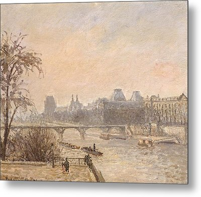 The Seine And The Louvre, 1903 Oil On Canvas Metal Print