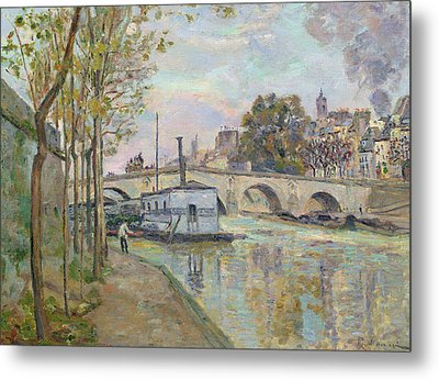 The Seine In Paris  Metal Print by Jean Baptiste Armand Guillaumin