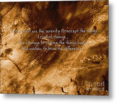 The Serenity Prayer 1 Metal Print by Andrea Anderegg