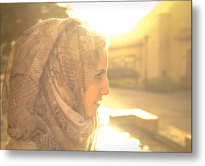 The Serian Face Metal Print by Ahmed Rashed