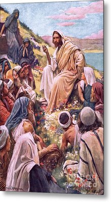 The Sermon On The Mount Metal Print by Harold Copping