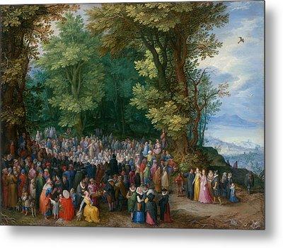 The Sermon On The Mount Metal Print by Jan Brueghel the Elder