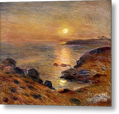 The Setting Of The Sun At Douarnenez61 Metal Print by Pierre Auguste Renoir