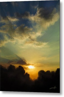 The Setting Sun Metal Print by Dale Jackson