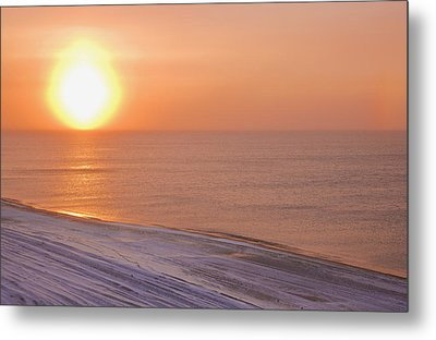 The Setting Sun Shining Through Metal Print by Kevin Smith