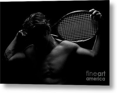 The Shadowed Player Metal Print
