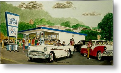 The Shake Shoppe Portsmouth Ohio 1960 Metal Print