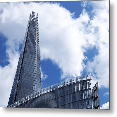 The Shard And The Place - London Metal Print