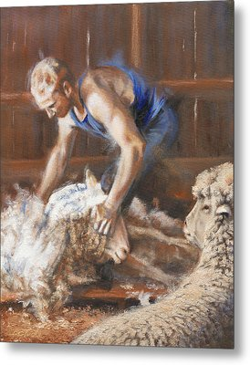 The Shearing Metal Print by Mia DeLode
