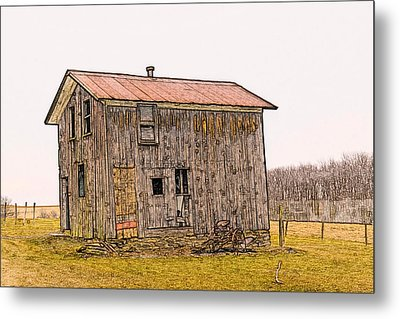 The Shed Metal Print by David Simons