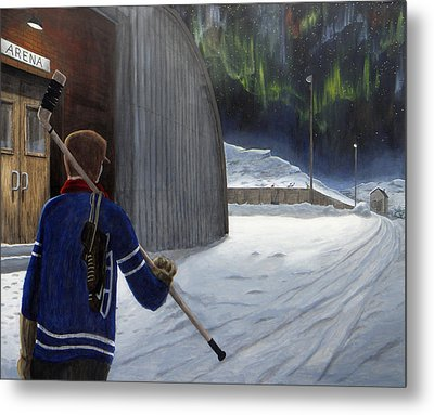 The Shinny Player Metal Print by Dave Rheaume