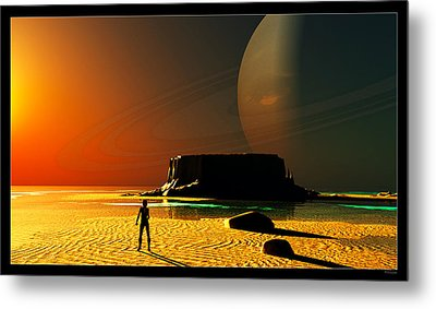 The Shore Of The Cupric Seas... Metal Print