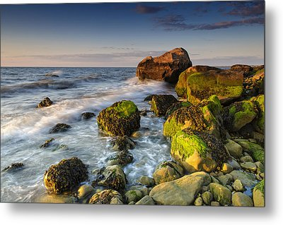 The Shore Of The Sound Metal Print by Rick Berk
