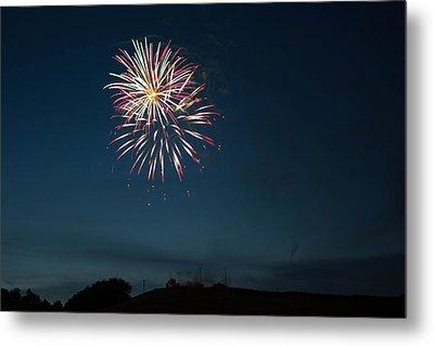 West Virginia Day Fireworks Show Begins Metal Print by Howard Tenke