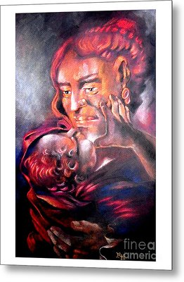 The Sick Child Metal Print