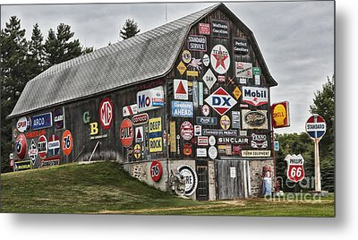 The Sign Barn Metal Print by Ricky L Jones