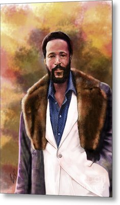 The Silky Silky Soul Singer - Marvin Gaye  Metal Print