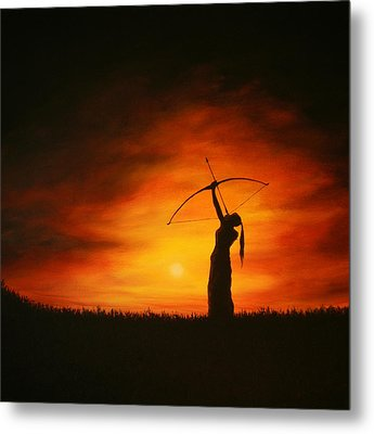 The Simple Act Of Aiming High Metal Print