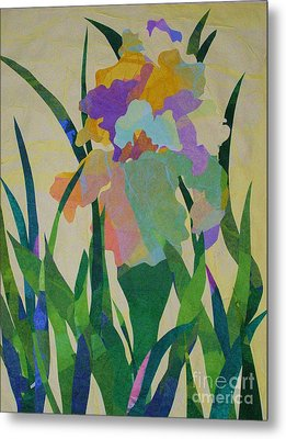 The Single Iris Metal Print