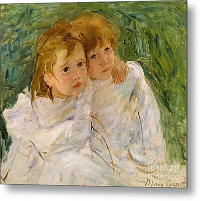 The Sisters Metal Print by Mary Cassatt
