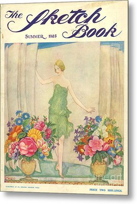 The Sketch Book 1925 1920s Uk Womens Metal Print by The Advertising Archives