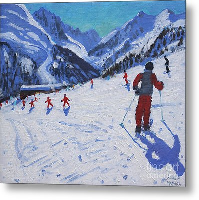 The Ski Instructor Metal Print by Andrew Macara